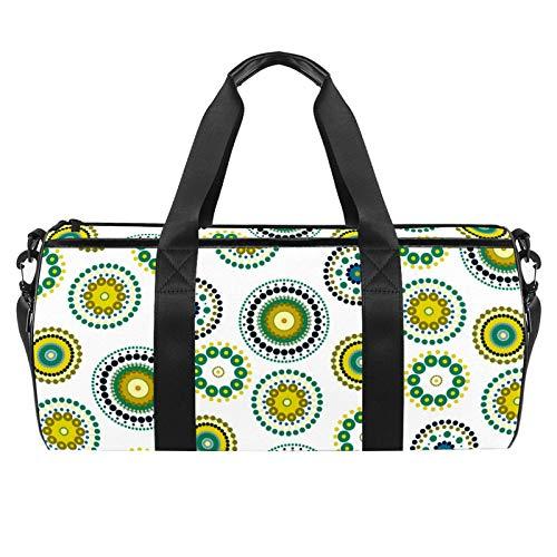 ASDFSD Sporttasche mit Vintage-Blumen für Damen und Herren, für Tanz, Reisen, Wochenendausflüge.