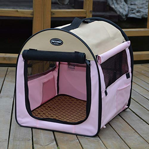 ZDJR Portable Pet Puppy Dog Cat Animal Playpen,Easily Sets Up & Folds Down,The Best Indoor and Outdoor Pen,Multiple Colors,Pink