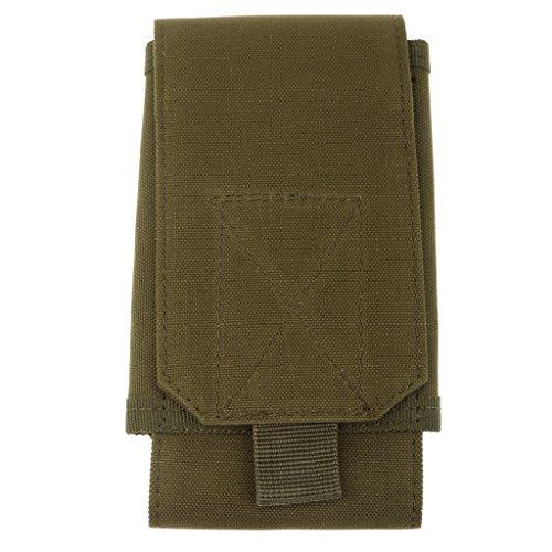 Generic Pochette de Téléphone Cellulaire Nylon Sac Tactique Multifonction - Taille Unique, Vert