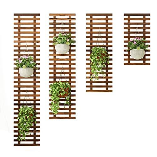 Schwimmend Pflanze Regale Balkon An der Wand montiert Hölzern Blumentopfhalter Fleischig Stand Grüner Rettich Kletterwand Garten Pflanze Aufhänger Innen Dekoration