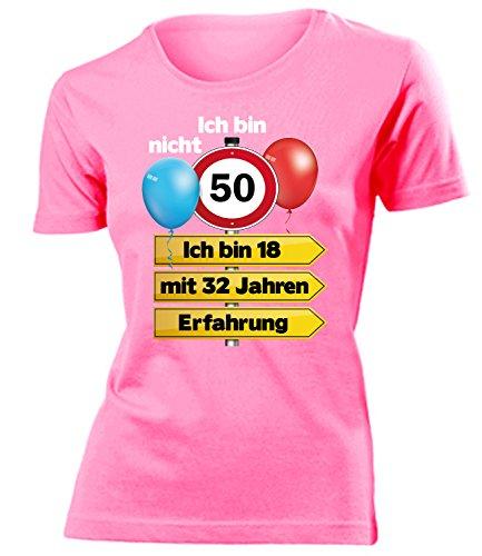 Ich Bin Nicht 50 Ich Bin 18 mit 32 Jahren Erfahrung Damen Frauen T Shirt Geschenke Geburtstag Ideen Happy Birthday Artikel Mama Oma Freundin Mutter