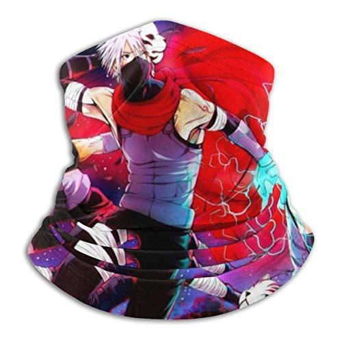 Anime Naruto Tube Neck Warmer Weiche Kopfbedeckung Face Scarf Cover Shield für kaltes Wetter Winter Outdoor Sport Schwarz ~ A84W