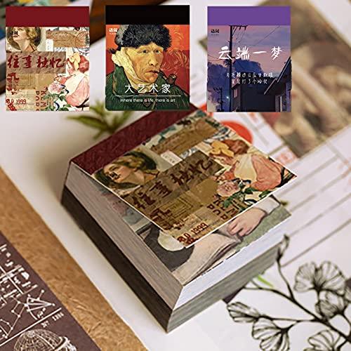 1200 Hojas Papel Manualidades Vintage, Papel Decorativo Scrapbooking, Scrapbooking Materiales Vintage, Bloc de Scrapbooking, Papel de Album de Recortes, para Scrapbooking Craft Tarjeta Haciendo