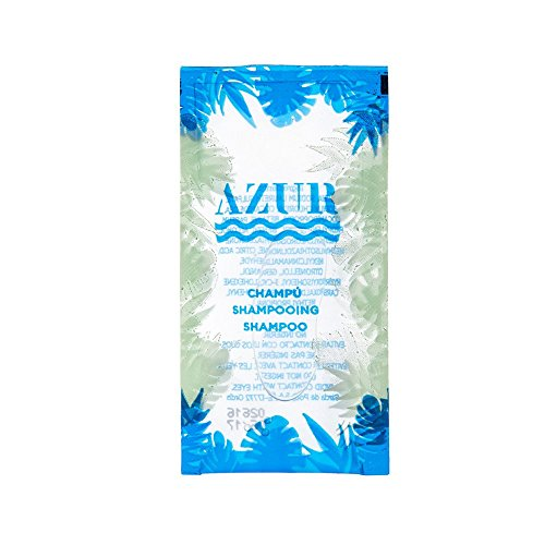 García de Pou 219.59 - kleine zak doorzichtige shampoo 'Azur' 10 ml 10X5 cm transparant Pet - 500 units