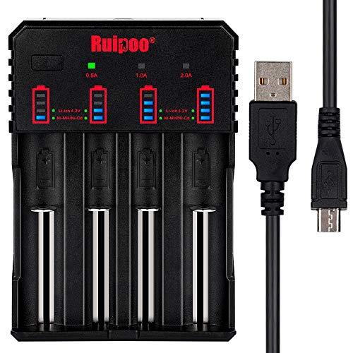 Cargador de batería universal inteligente 18650 para AAA AA A 10440 14500 14650 17670 18350 18500 18700 22650 20700 21700 26650 Li-ion Ni-MH Ni-CD RCR123 recargable Baterías