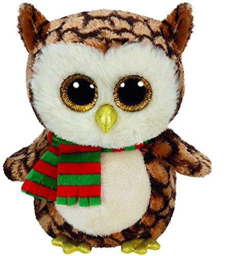 Ty Beanie Boos Buddy Wise / Weihnachtseule mit Schal 24cm [Importación Alemana]