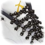 XTENEX - X200 Black/Beige/Vanilla 30 (PATENTED) Adjustable Eyelet Blocking No Tie Elastic Shoe Laces for an Extreme Lock In Performance Fit