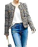 (リグリ) LIGLI ジャケット ツイード ノーカラー コート ショート丈 上品かわいい 収納袋セット ワンカラー M