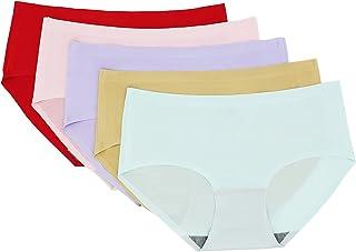 ملابس داخلية نسائية غير مرئية غير ملحومة ملابس داخلية نسائية 5 عبوات، 5 الوان