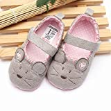 Bluelover Toddler Infant Mouse Cute Morbida Suola Culla Ragazza Scarpe Mary Janes Antisciv...