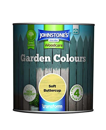 Johnstone's 309283 Garden Colours, Soft Buttercup, 1 Litre