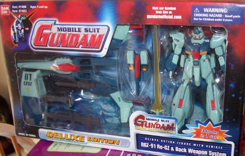 MOBILE SUIT GUNDAM Deluxe Action Figure with Vehicle RGZ-91 Re-GZ & Back Weapon System