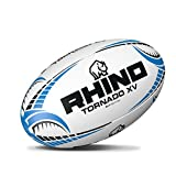 Rhino Tornado Blanc Ballon de Rugby XV Large Blanc/Bleu