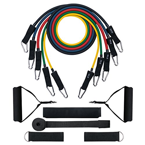 Resistance Bands,TOPELEK Up to 150 LBS Resistance Bands Set & Updated with New Model Door Anchor & Band Guard,Fitness Tubes Set