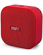 MIFA A1 Bluetooth 4.2 スピーカー IP56防塵防水 小型 5W拡声器 TWS機能付き 12時間連続再生 ハンズフリー通話 Micro SDカード機能つき(赤)