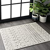 nuLOOM Moroccan Blythe Area Rug, 3' x 5', Grey/Off-white