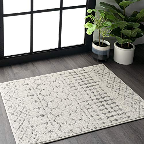 nuLOOM Moroccan Blythe Accent Rug, 2' x 3', Grey/Off-white