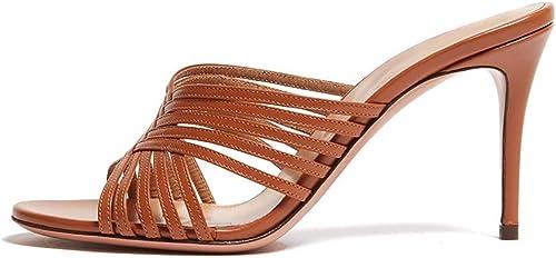 XLY Pantoufles à Bout Pointu de la Mode féminine, Chaussures habillées sans Talons avec Talons Aiguilles et Chaussures habillées