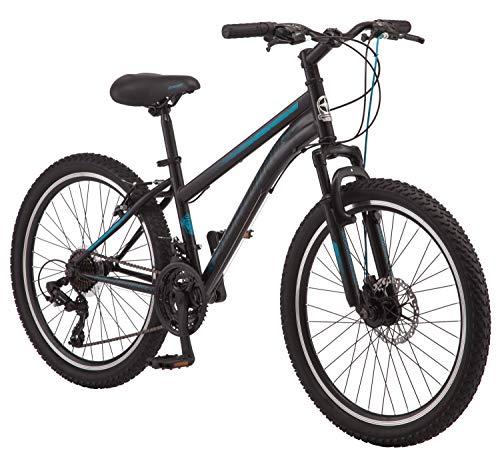 Sidewinder Mountain Bike, 24 inch Wheels, Girls Frame, Black