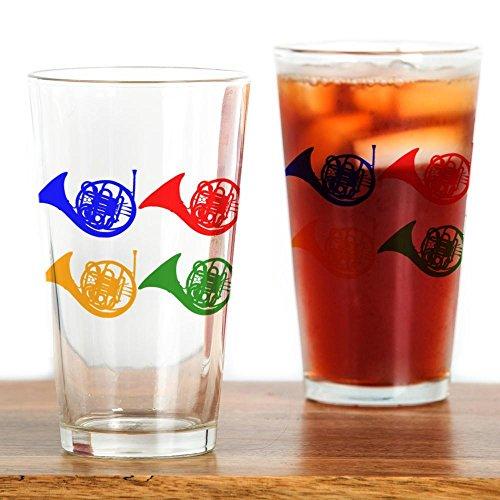 CafePress Pop-Art-Glas mit Waldhorn-Motiv durchsichtig