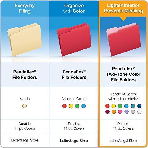 Pendaflex Color Reinforced Top File Folders, Letter Size, Full Tab Position, Blue, 100 Per Box (R152 BLU) Photo #6