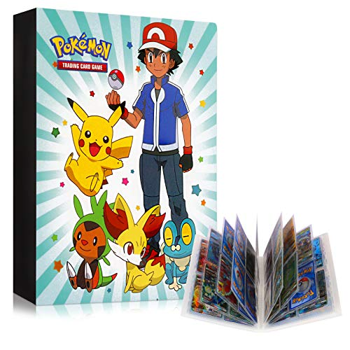 GUBOOM Pokemon Sammelalbum, Pokemon karten Hüllen, Album für Sammelkarten, Sammelkarten Folien, Karten Ordner, Pokemon karten Aufbewahrung, Bester Schutz Für Pokemon Karten GX EX