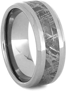 Jewelry By Johan Gibeon Meteorite Wedding Band, Beveled Titanium Ring
