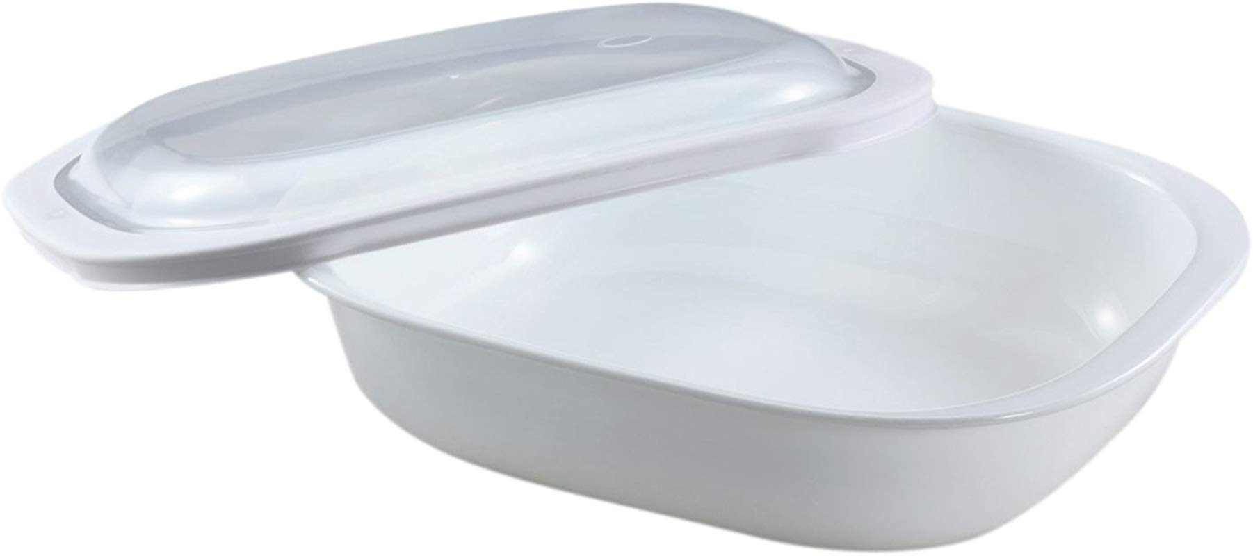 CorningWare SimplyLite 3 Quart Oblong Baking Dish With Plastic Lid