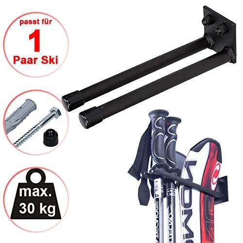 4U® Skihalter Skiträger Skistöcke Nordic Walking Stöcke Wandhalter Ski Gerätehalter