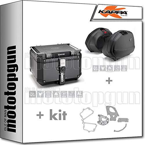 KAPPA KVE48BN - Maletín con maleta lateral K33N y monociclo + portaequipajes lateral desmontable K33 Monokey Side compatible con Honda CBF 1000 / ST 2010 10 2011 11