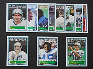 Seattle Seahawks 1983 Topps Football Team Set**Kenny Easley, Jacob Green, John Harris, Michael Jackson, Norm Johnson, Steve Largent, Keith Simpson, Sherman Smith, Jeff West and Jim Zorn