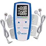 AccuRelief Complete 3-in-1 TENS Unit, EMS, Massager Device - Pain Relief Electric Muscle Stimulator with 4 Electrodes for Neck, Back, and Full Body