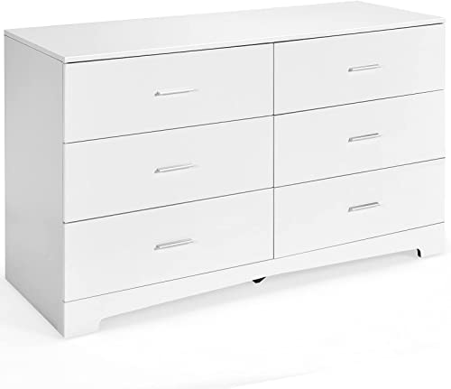 2021 Giantex 6-Drawer Dresser Large Freestanding Storage Cabinet with Metal Handles, Anti-Fall Device discount and Solid Frame Modern Storage Collection Organizer for Bedroom, Living discount Room, Hallway Closet (White) outlet online sale