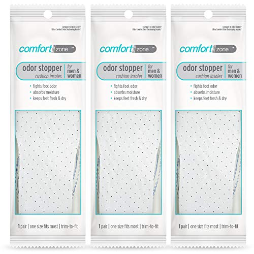 Comfort Zone Odor Stopper Cushioned Insoles