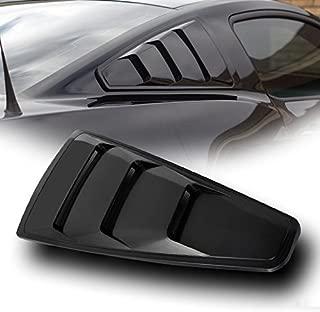 VXMOTOR for 2005-2014 Ford Mustang Black GT3 Vent Rear 1/4 Quarter Side Vent Window Louvers V2