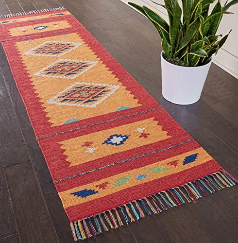 Marca de Amazon - Movian Burgas, alfombra rectangular, 228,6 de largo x 68,6 cm de ancho (diseño geométrico)