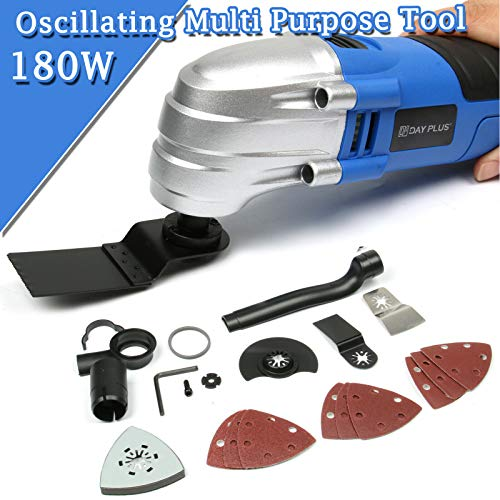 Lowest Prices! Oscillating Tool Kit with Carry Case 21000RPM 13-Piece Accessories & Blades 2.8°Osci...