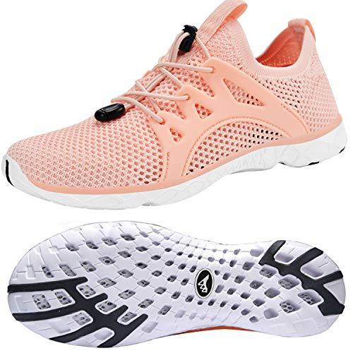 Feetmat Women's Quick Drying Aqua Water Shoes Casual Walking Shoes Non Slip Shoes for Testaurant Womens Comfortable Shoes for Work Pink 7