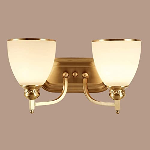Wall lamp éclairage, Lampe de Mur Minimaliste Moderne, Lampe de tête de lit de Chambre à Coucher E27 a Hommesé Le Couloir de cuivre 1101-1W, éclairage à la Maison de Mur