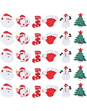 ULTNICE 30pcs Shoe Charms Cartoon Christmas Cartoon Charms Christmas PVC Shoe Charms for Christmas Shoes Hole Shoe Accessories