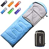 Envelope Camping Sleeping Bag for Adults, Youth,Kids & Boys, Great for 4 Season,Portable for Backpacking Traveling Hiking Waterproof Lightweight Outdoor Sleeping Bags