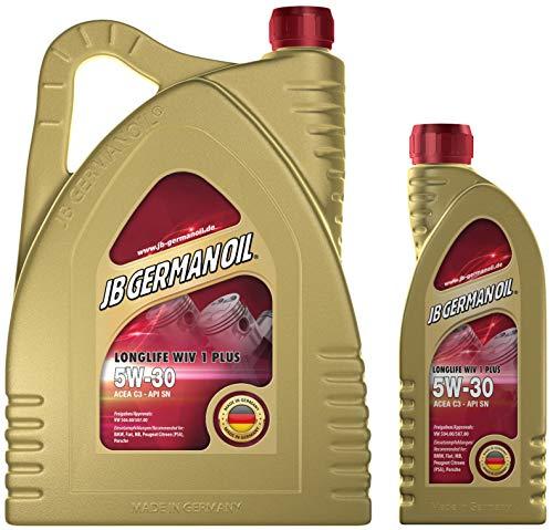 JB GERMAN OIL - Motor Öl 5W-30 Longlife WIV 1 Plus Auto Öl 5W 30, 6 L