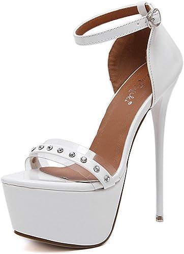 Easemax , Sandales pour Femme - Blanc - Blanc, 36.5