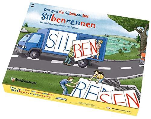 Mildenberger Verlag GmbH Der große Silbenzauber: Silbenrennen EIN Spiel zum Lesenlernen mit System. Leselernspiel im Schmuckkarton