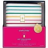 Simplified by Emily Ley 2022 Organizador semanal y mensual de regalo, 12.5 cm x 20.5 cm, tamaño de escritorio, Happy Stripe (EL100-411)