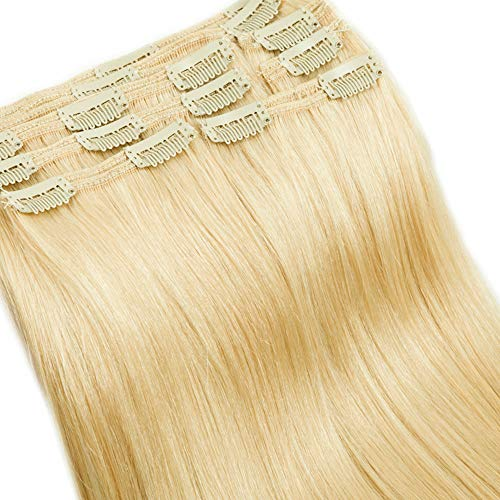 35cm Extension Clip Capelli Veri Double Weft Lunga 14