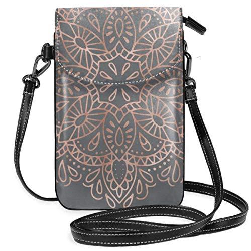 Liliylove Handtasche/Geldbörse für Damen und Mädchen, mit handlicher Tragetasche, Roségold, Pink, schimmernd auf weichem, grauem und leichtem Material