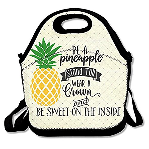 Zmvise être un Ananas support Haut Lunch Tote isotherme réutilisable Picnic Lunch Sacs Boîtes pour homme femme adultes enfants Toddler infirmières