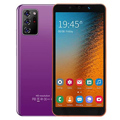Lazimin Note30 Plus - Smartphone de 5,72 pulgadas, huellas faciales, desbloquee dos tarjetas Dual Standby 512 MB + 4 GB teléfono móvil (lila)
