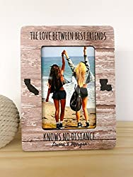 Image: SouthernCottage | Best Friend Frame | Long Distance Friendship Frame | Best Friend Gift